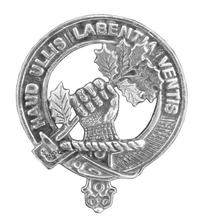 Image 1 of Irvine Of Bonshaw Clan Cap Crest Stylish Pewter Clan Irvine Of Bonshaw Badge