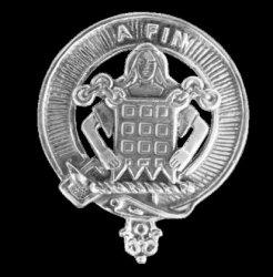 Ogilvie Clan Cap Crest Sterling Silver Clan Ogilvie Badge