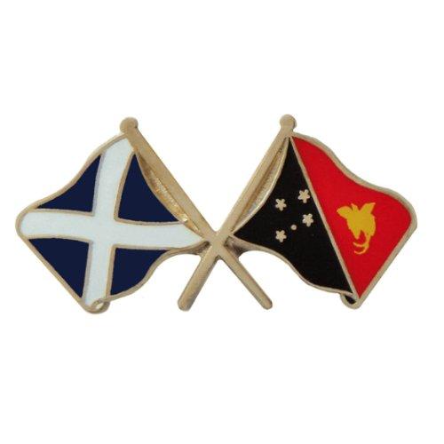 Image 1 of Saltire Papua New Guinea Cross Country Flags Friendship Enamel Lapel Pin Set x 3