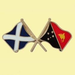 Saltire Papua New Guinea Cross Country Flags Friendship Enamel Lapel Pin Set x 3