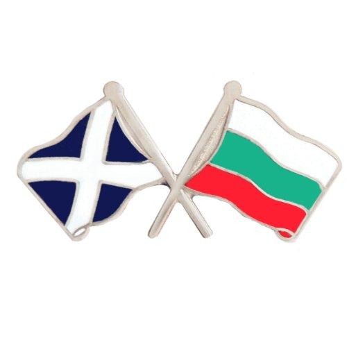 Image 1 of Saltire Bulgaria Crossed Country Flags Friendship Enamel Lapel Pin Set x 3