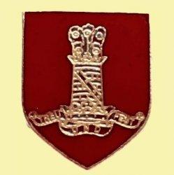 11th Hussars Military Shield Enamel Badge Lapel Pin Set x 3