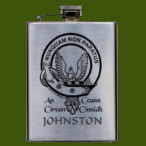 Image 0 of Clan Badge Lasered Stainless Steel Clan Crest 8oz Hip Flask