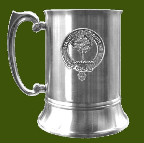 Image 0 of Anderson Clan Badge Stainless Steel Pewter Clan Crest Tankard