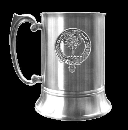 Image 0 of Anderson Clan Badge Stainless Steel Silver Clan Crest Tankard