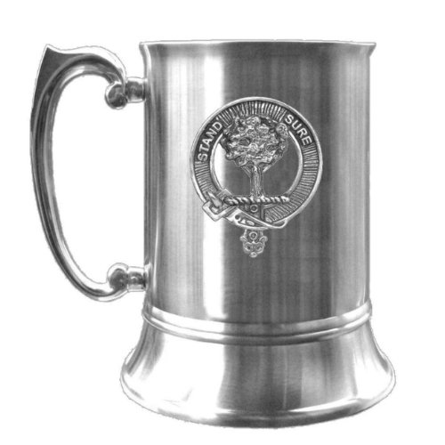 Image 1 of Anderson Clan Badge Stainless Steel Silver Clan Crest Tankard