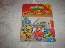 Sesame Street Firehouse & Police Station Super Sticker Book brand new