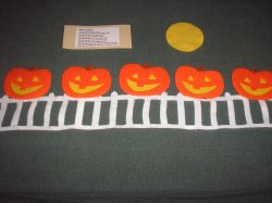 Five Little Jack-O'-Lanterns felt board set with laminated story cards
