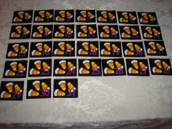 36 Laminated Candy Corn Calendar Pocket Chart Pieces