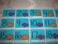 31 Laminated Fish Calendar Pocket Chart Pieces in AABB pattern