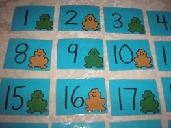 31 Laminated Frog and Toad Calendar Pocket Chart Pieces in ABAB pattern