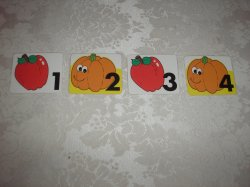 61 Laminated Apple and Pumpkin Calendar Pocket Chart Patterning Pieces