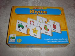 Match It! Rhyme brand new 30 self-correcting puzzle sets
