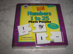 Numbers 1 to 25 Photo Puzzles brand new and sealed Frank Shaffer