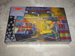 Melissa & Doug Firehouse 30 Piece Jigsaw Puzzle brand new and sealed