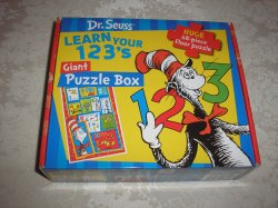 Dr. Seuss Learn Your 123's Giant Puzzle Box brand new 48 piece floor puzzle