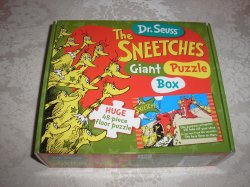 Dr. Seuss The Sneetches Giant Puzzle Box brand new 48 piece floor puzzle