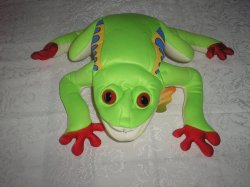 Folkmanis Large Tree Frog Puppet New with Tags 16x20 rare polyester fiber