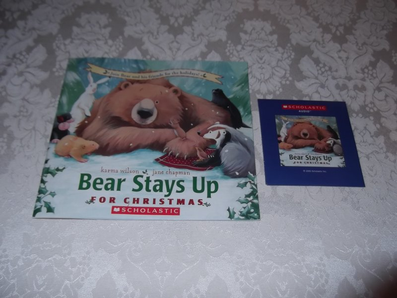 Image 0 of Bear Stays Up For Christmas Karma Wilson brand new sc with sealed audio CD