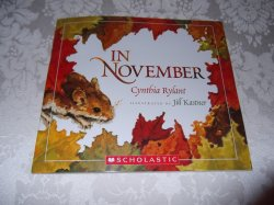 In November Cynthia Rylant brand new sc