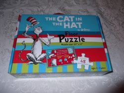 The Cat In The Hat Dr. Seuss Floor Puzzle brand new 48 pieces