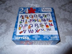 Alphabet Letters 24 Piece Puzzle brand new 8.25 x 11 inches