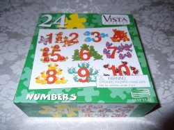 Numbers 24 Piece Puzzle brand new 8.25 x 11 inches
