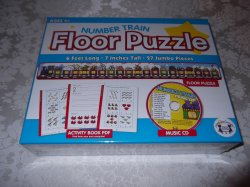 Number Train Floor Puzzle, Activity Book PDF, Music CD brand new and sealed