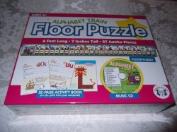 Alphabet Train Floor Puzzle, Activity Book on CD, Music CD brand new and sealed
