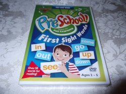 Preschool First Sight Words brand new sealed DVD Rock N Learn
