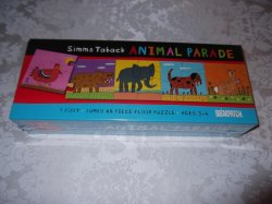 Simms Taback Animal Parade 7 Foot 48 Piece Floor Puzzle brand new and sealed