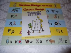 Curious George Curious About Letters with Alphabet Poster brand new