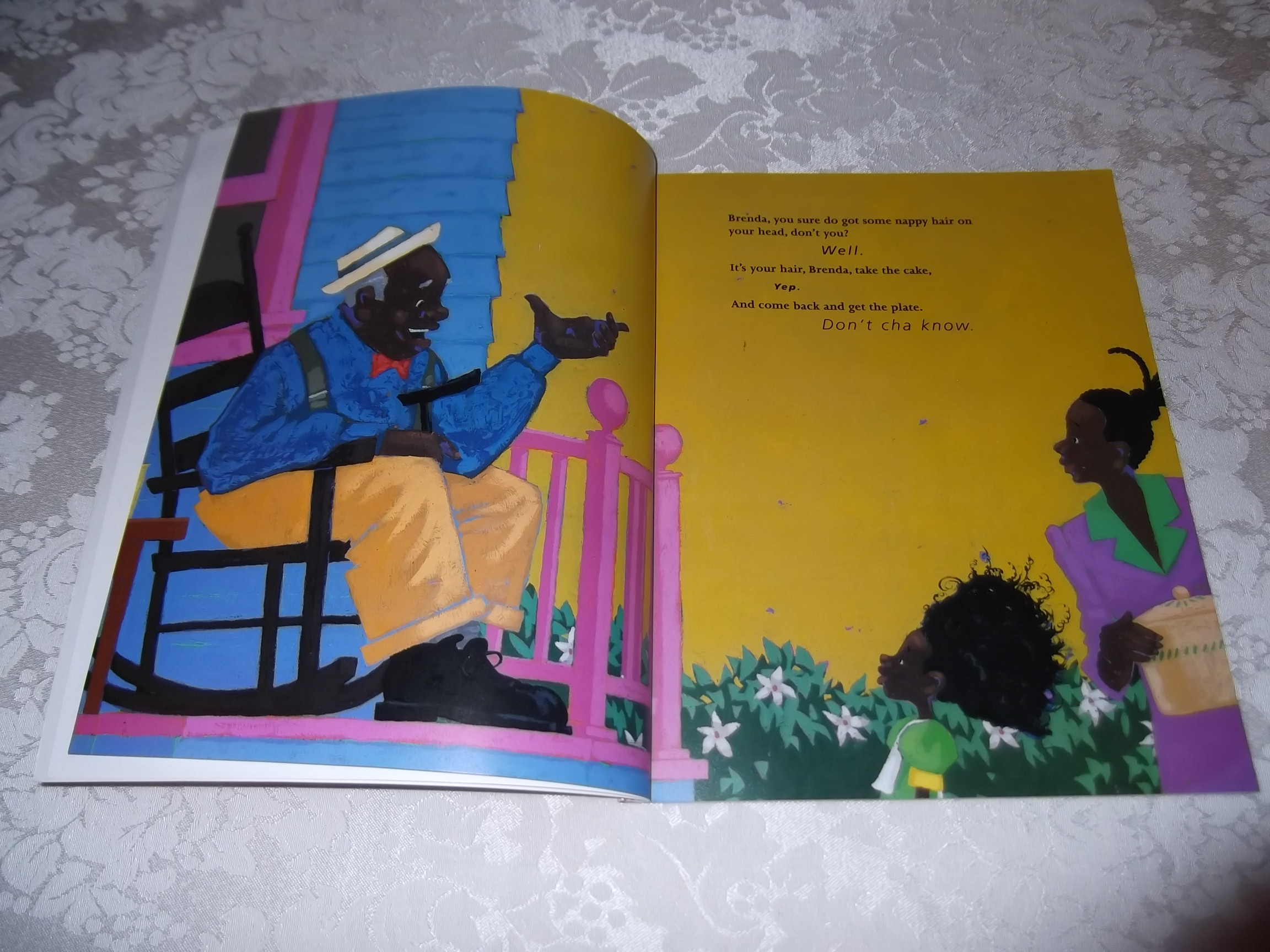 a report on the book nappy hair by carolivia herron Be proud of who you are, every inch of who you are in this empowering story about brenda's knotted-up, twisted, nappy hair and how it got to be that way told in the african-american call and.