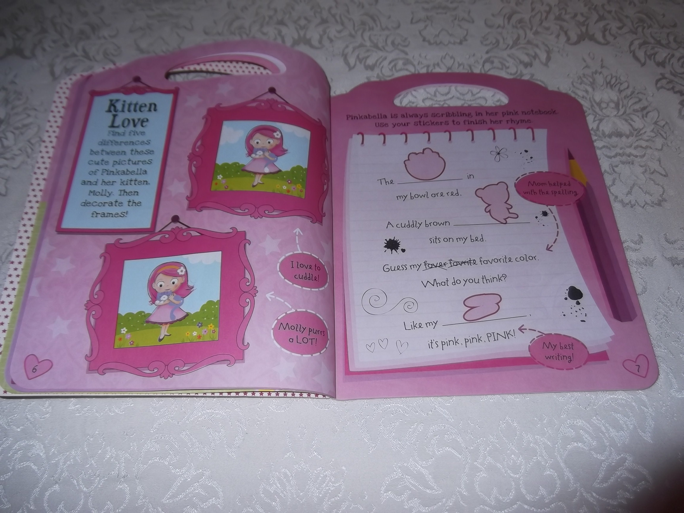 Pinkabellas Sticker Activity Book Brand New With 250 Stickers Books My Pretty Pink Image 3 Of