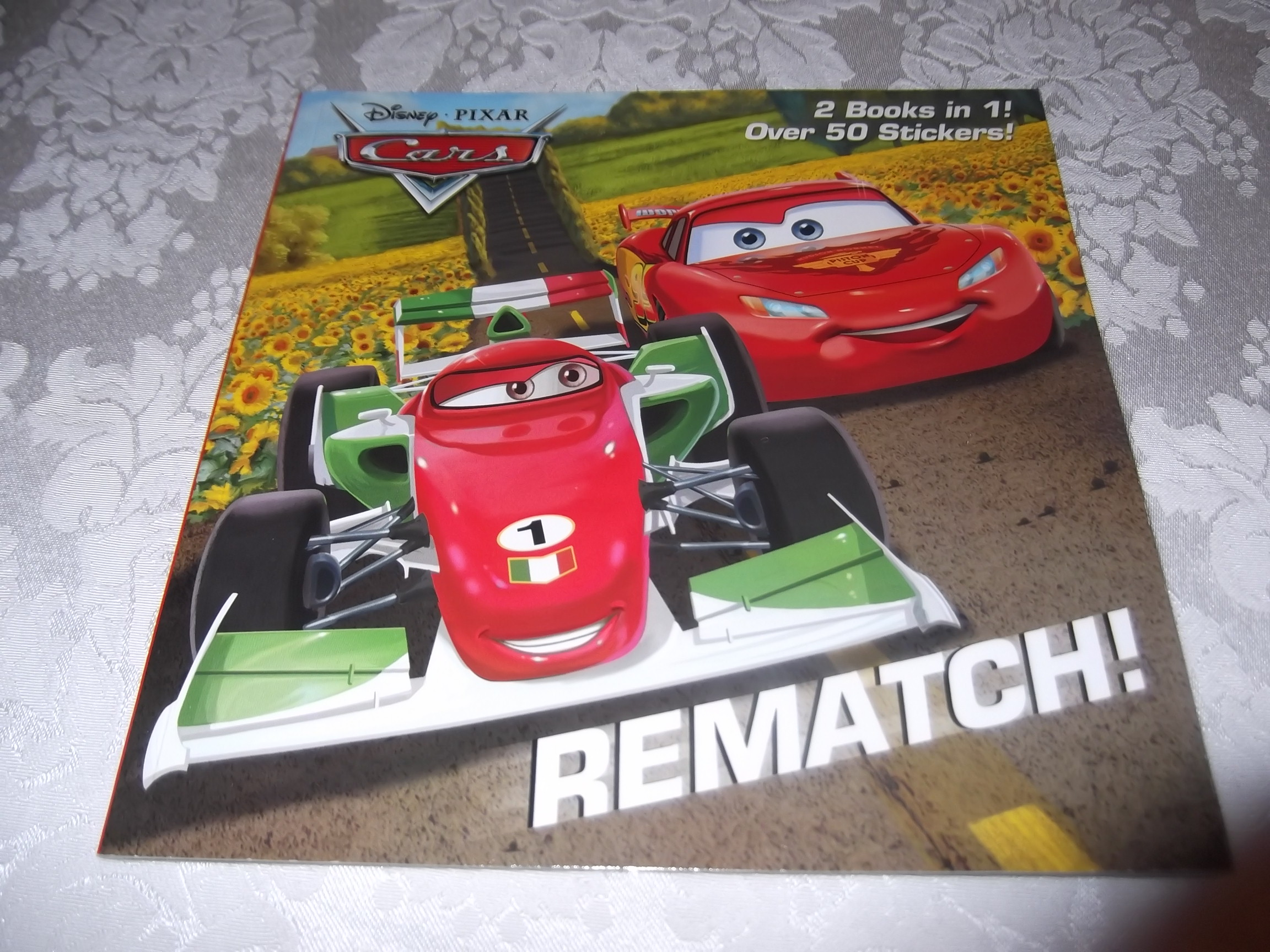 Disney Pixar Cars Rematch! Mater In Paris 2 Books in 1 50+ Stickers brand new sc