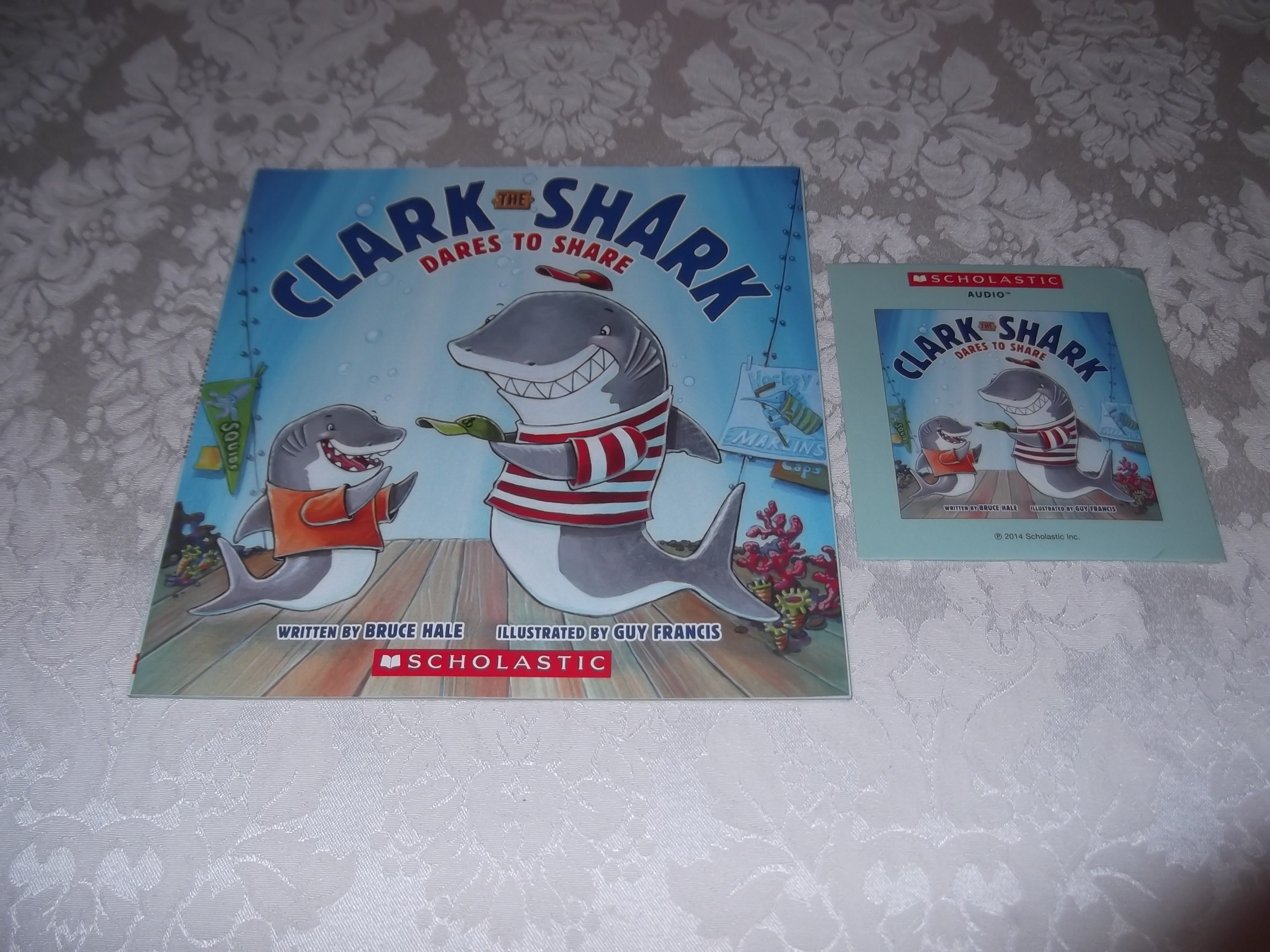 Clark The Shark Dares To Share Bruce Hale Audio CD & SC Brand New