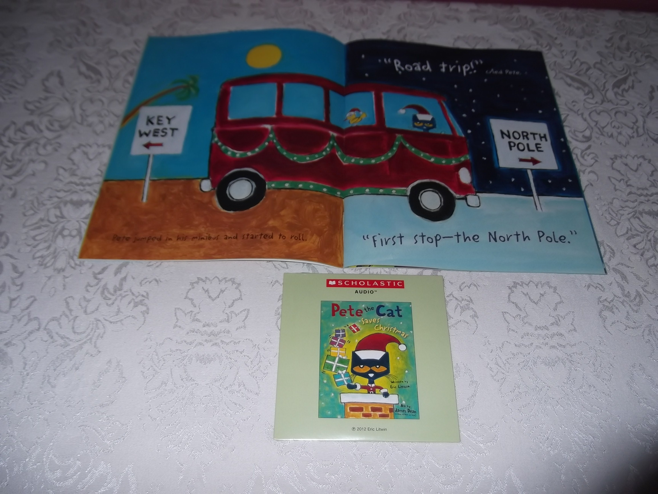 Image 1 of Pete the Cat Saves Christmas Brand New Audio CD and SC Eric Litwin