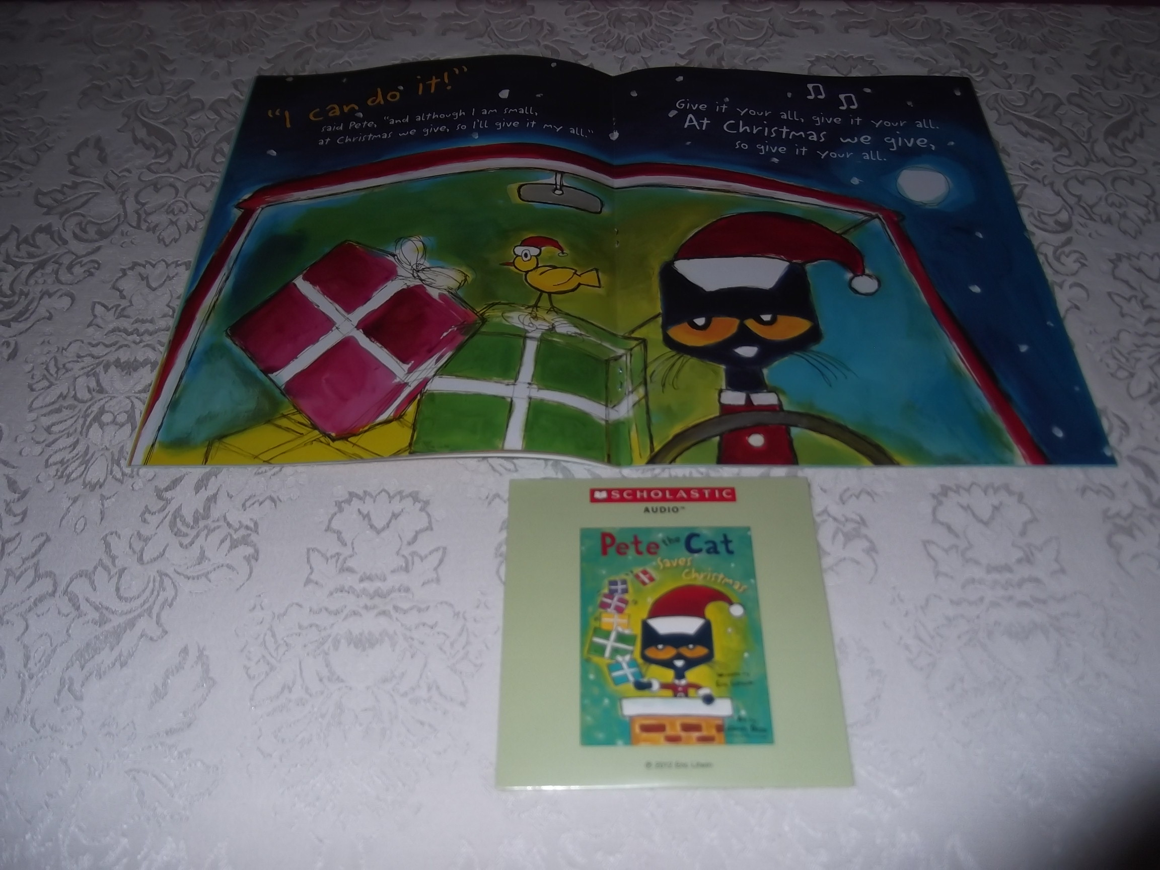 Image 2 of Pete the Cat Saves Christmas Brand New Audio CD and SC Eric Litwin