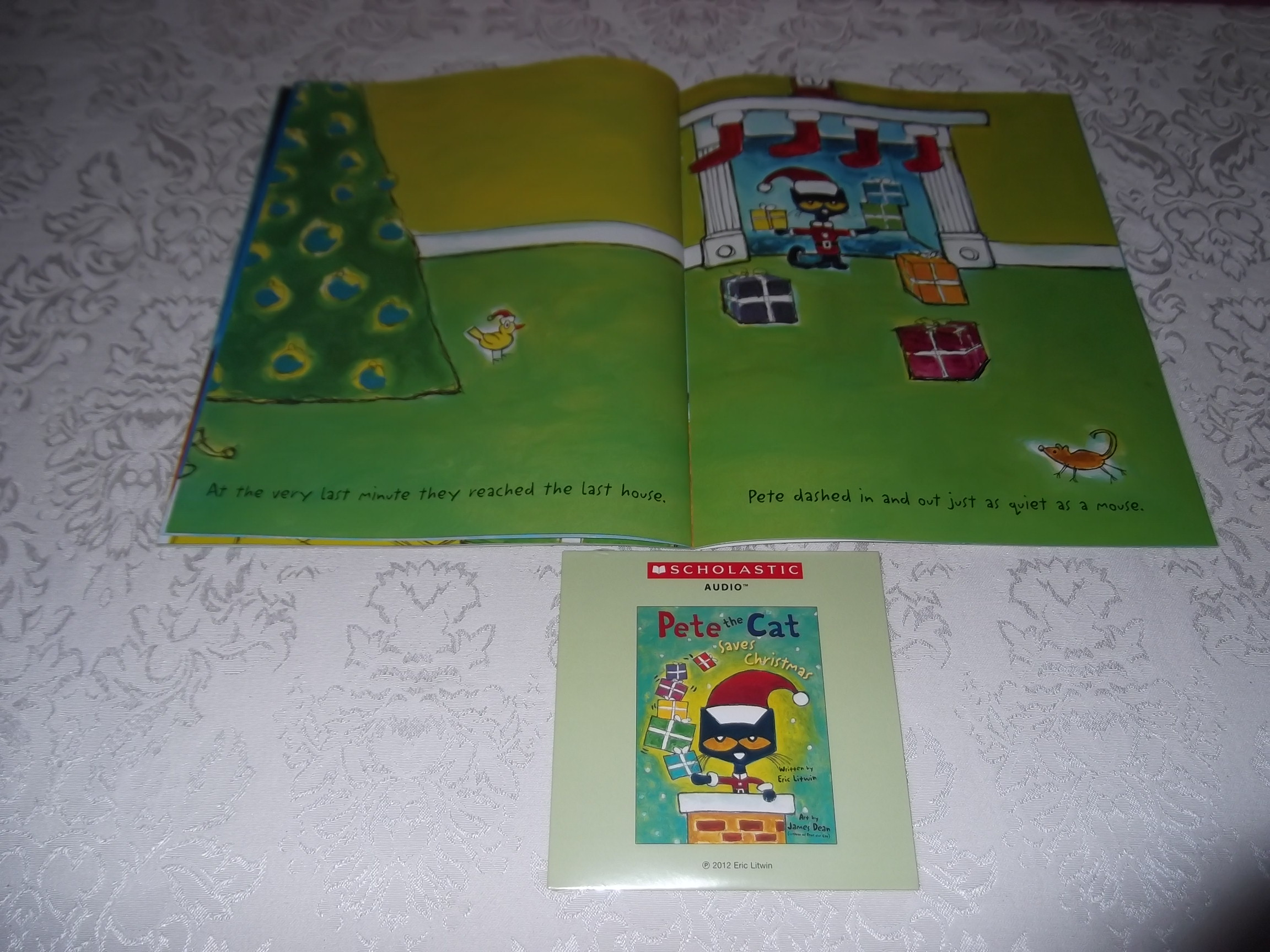 Image 4 of Pete the Cat Saves Christmas Brand New Audio CD and SC Eric Litwin