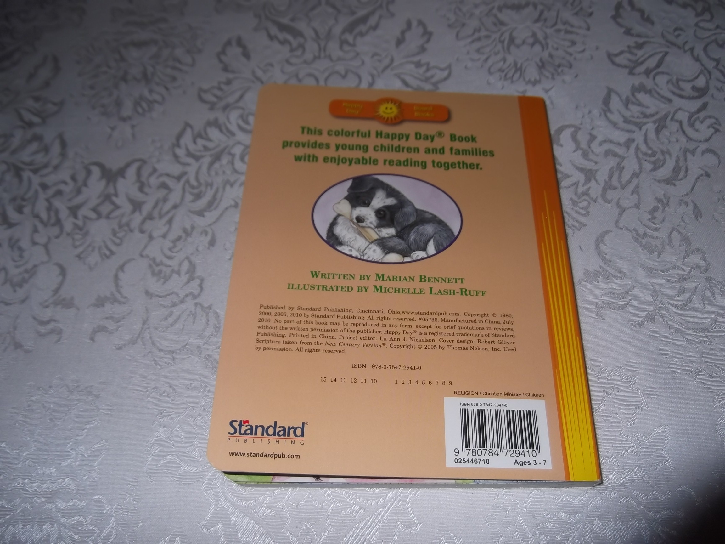 Image 9 of God Made Puppies Marian Bennet Happy Day Brand New Board Book