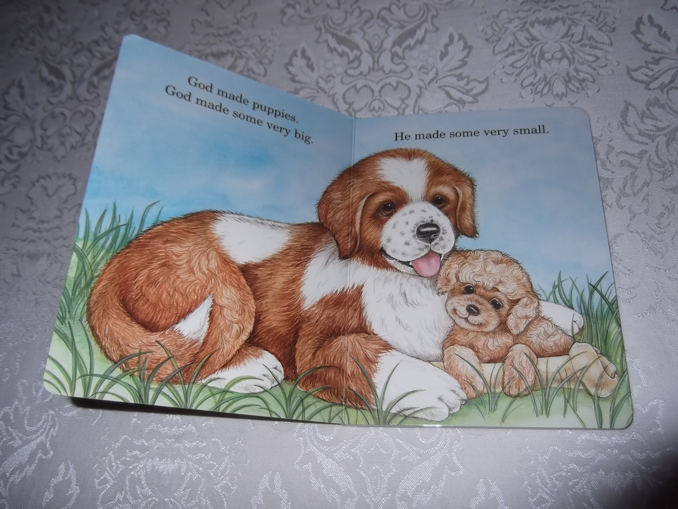 Image 1 of God Made Puppies Marian Bennet Happy Day Brand New Board Book