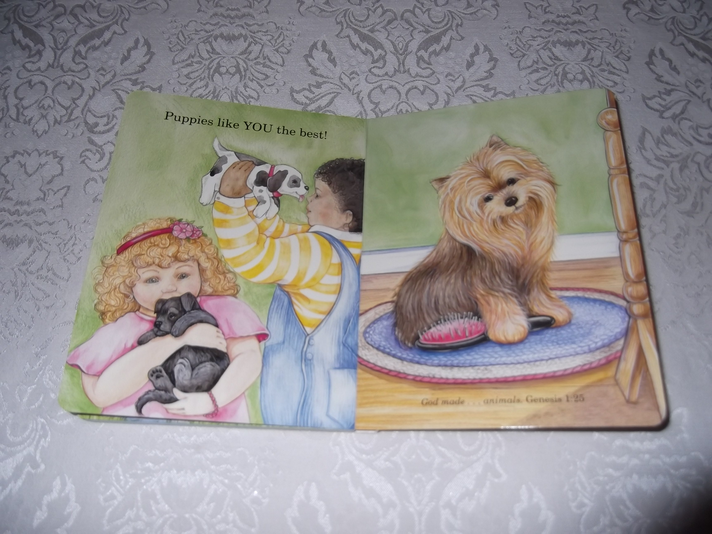 Image 8 of God Made Puppies Marian Bennet Happy Day Brand New Board Book