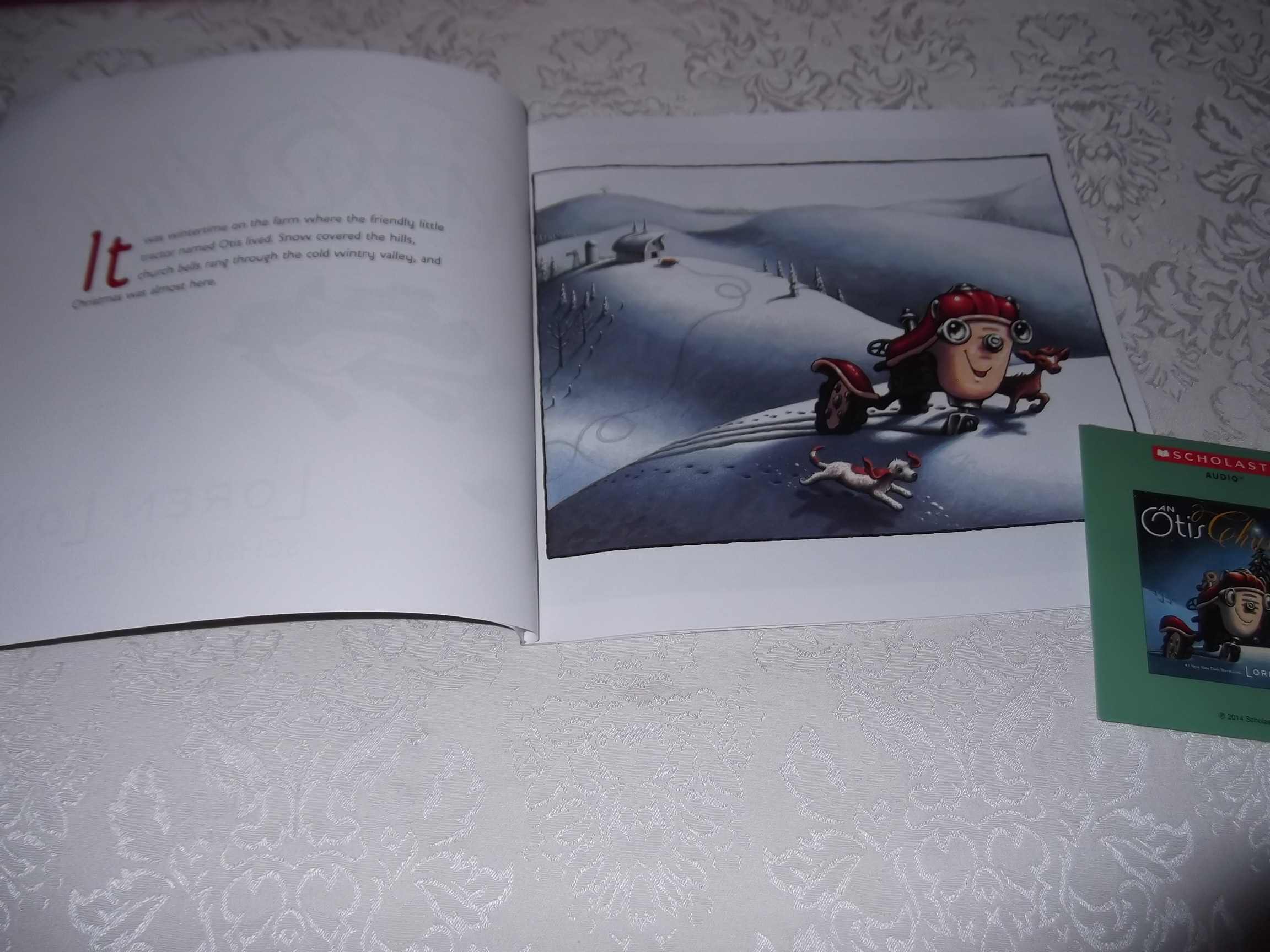 Image 1 of An Otis Christmas Loren Long Brand New Audio CD and Softcover