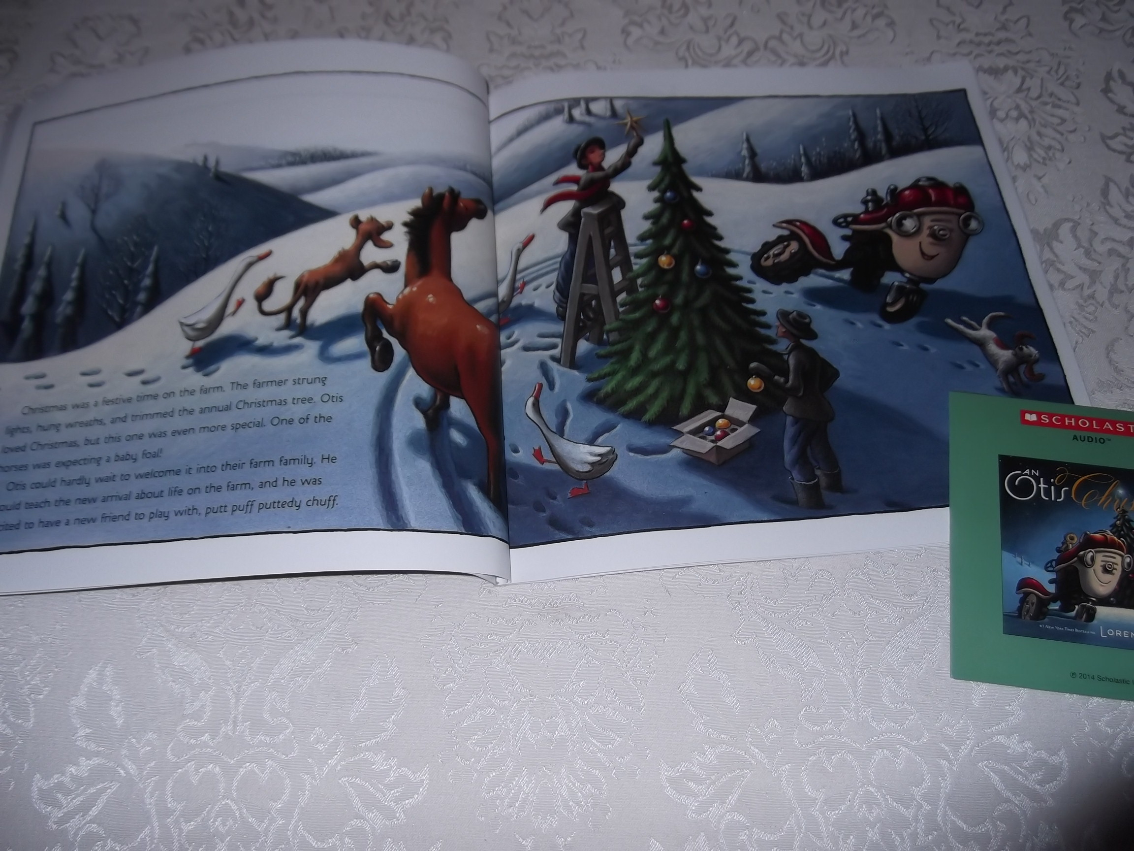 Image 2 of An Otis Christmas Loren Long Brand New Audio CD and Softcover