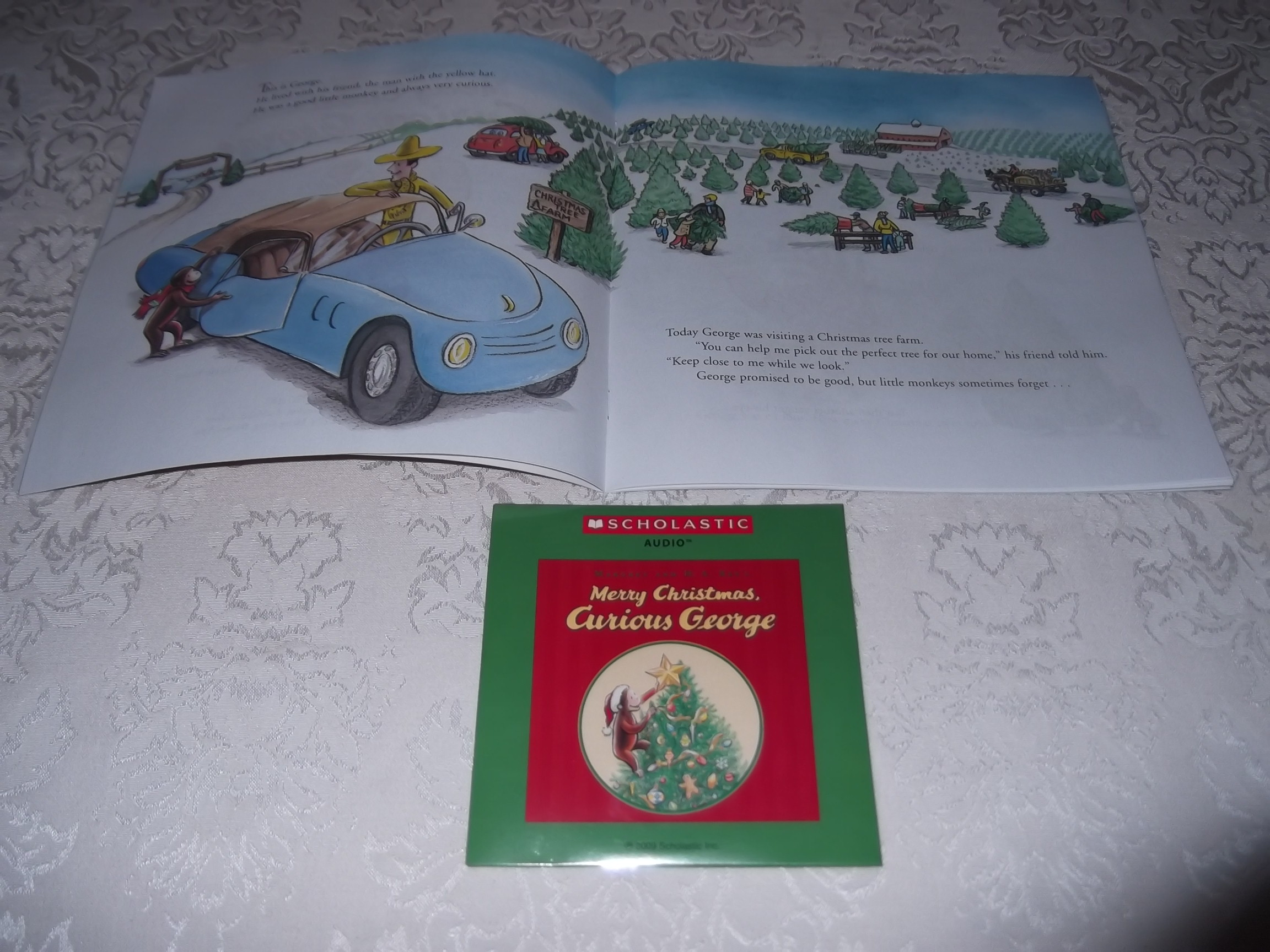 Image 1 of Merry Christmas, Curious George Margret and H.A. Rey Brand New Audio CD and SC