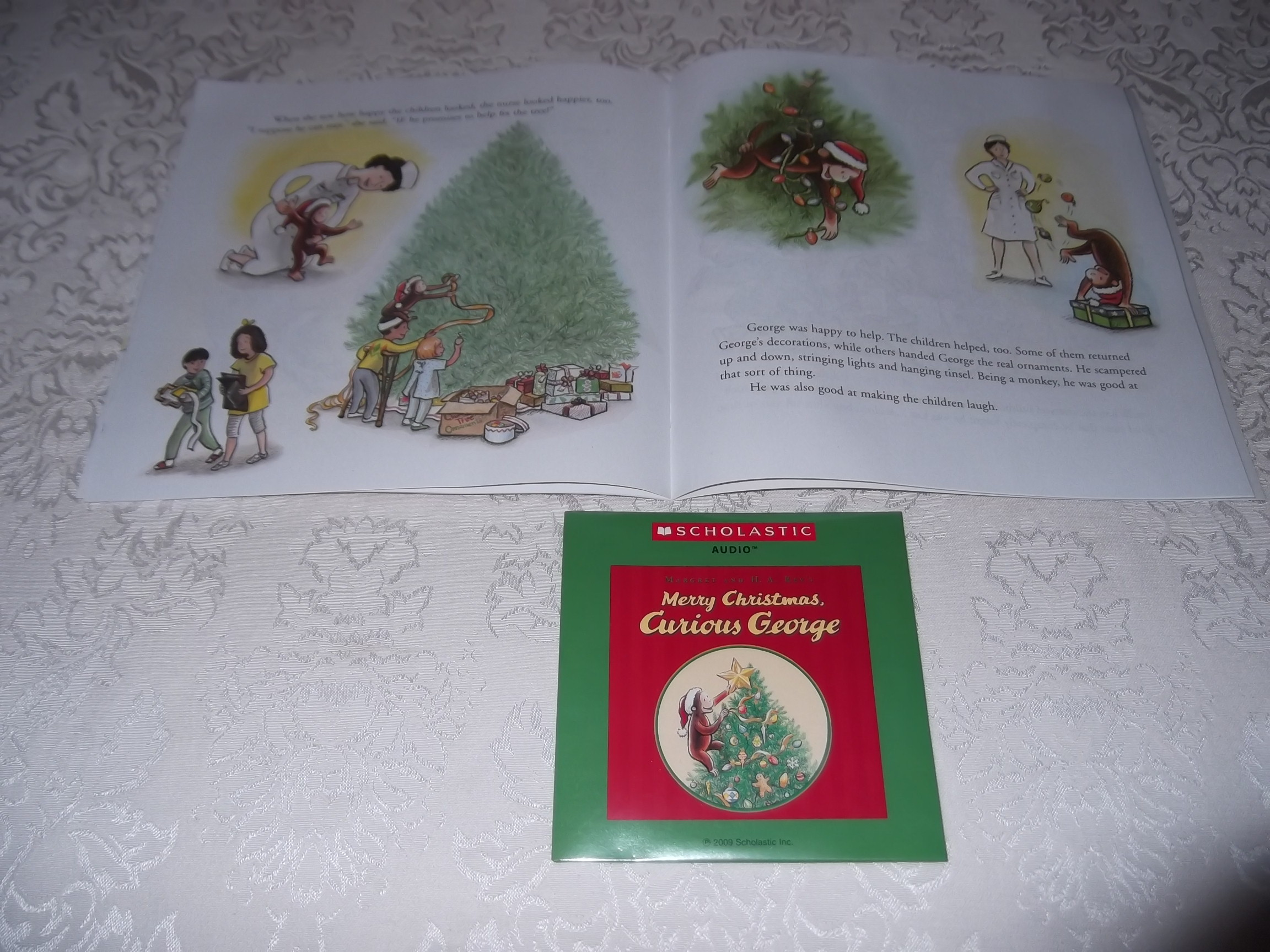 Image 4 of Merry Christmas, Curious George Margret and H.A. Rey Brand New Audio CD and SC