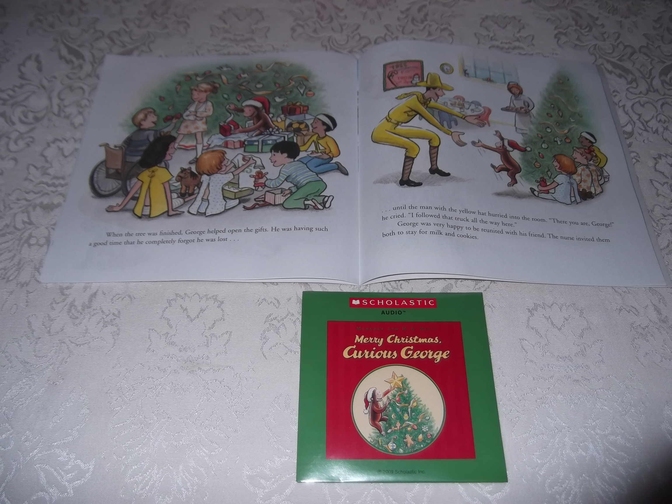 Image 5 of Merry Christmas, Curious George Margret and H.A. Rey Brand New Audio CD and SC