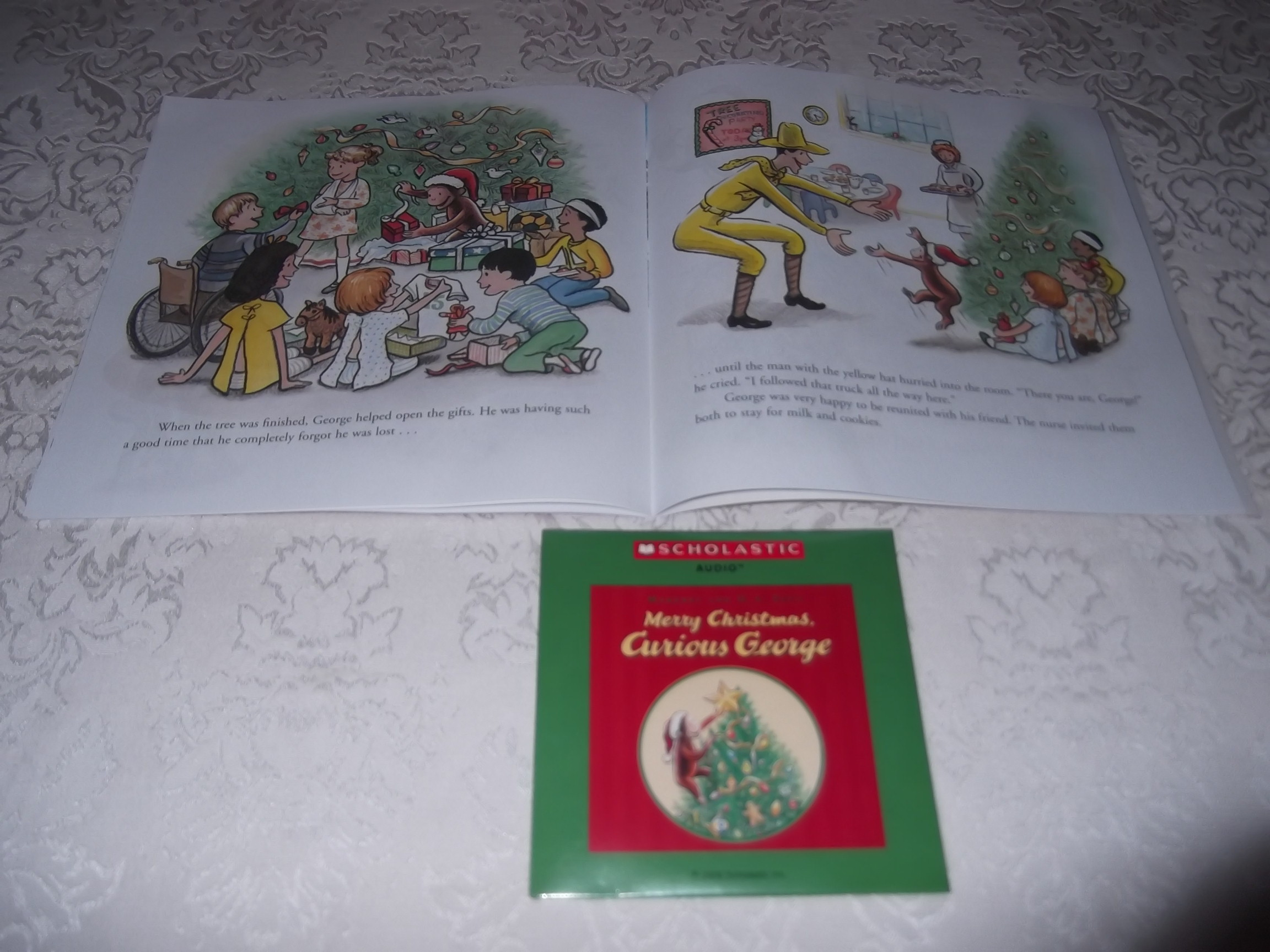Image 6 of Merry Christmas, Curious George Margret and H.A. Rey Brand New Audio CD and SC