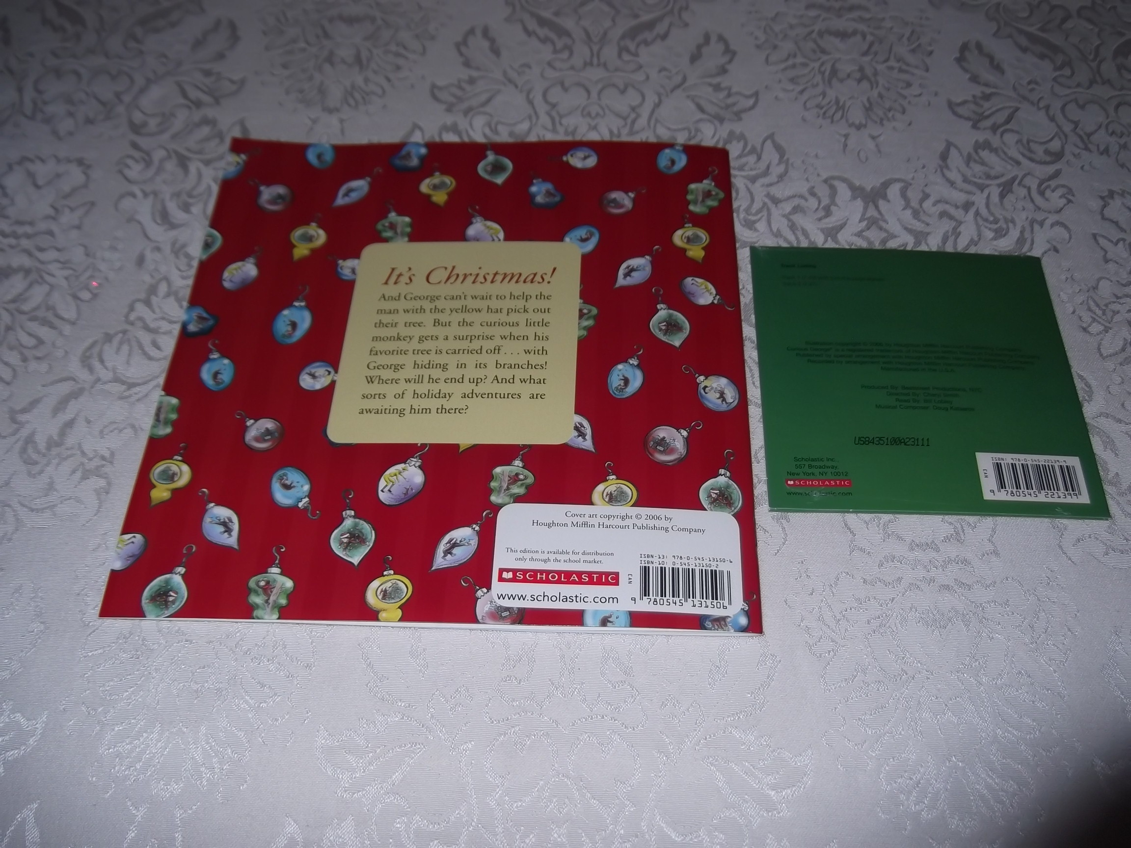 Image 7 of Merry Christmas, Curious George Margret and H.A. Rey Brand New Audio CD and SC