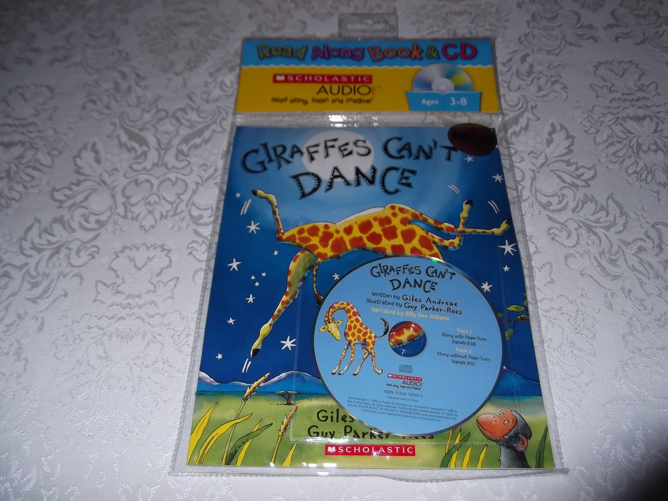 Giraffes Can't Dance Giles Andreae Scholastic Audio CD and SC Read Along New